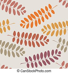 Stylish seamless texture with tree branches on a gray background