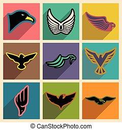 stylish set of eagles