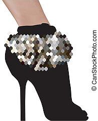 stylish silhouette woman shoes high heels - stylish...
