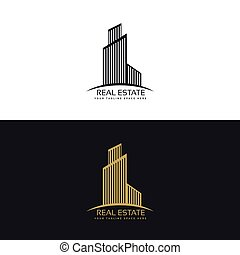 stylish skyscraper logo for real estate company
