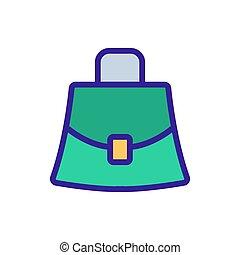 stylish small women bag icon vector.