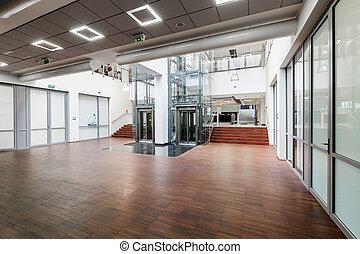 Stylish spacious interior of a new company