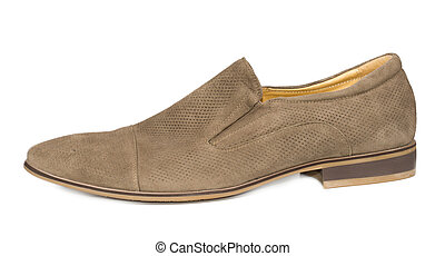 Stylish suede mens shoe - Stylish beige suede mens slip on...