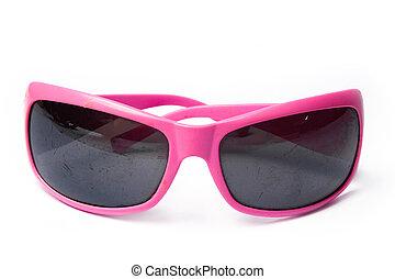 stylish sunglasses on a white background