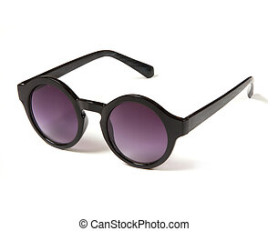stylish sunglasses with round purple glasses