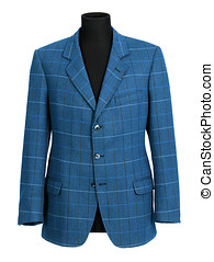 Stylish tailored blue jacket on a mannequin