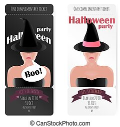 Stylish ticket to the party of Halloween,