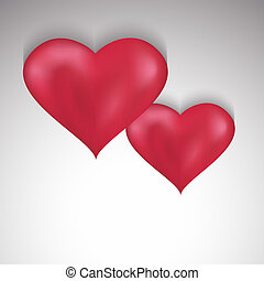 Stylish Valentines Day background with two hearts