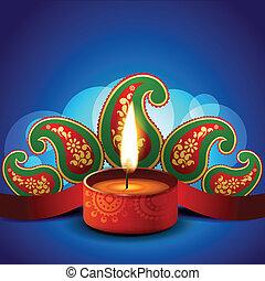 stylish vector diwali diya background