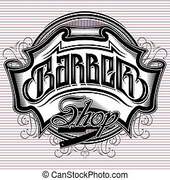 stylish vector sign for a barber