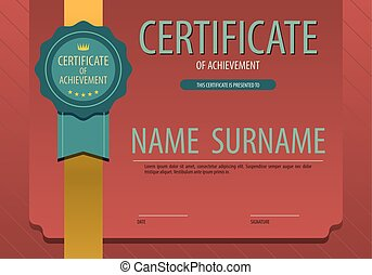 Stylish Vintage Blank Certified Border Template Vector Illustration