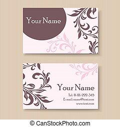 Stylish vintage business card