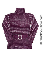 Stylish violet tunic on a white.