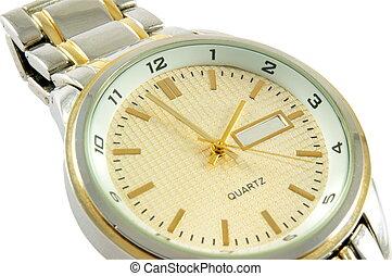 stylish watch - stylish man watch over white background