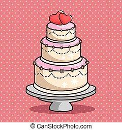 stylish wedding cake vector illustration graphic design