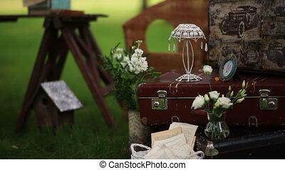 stylish wedding decor for staging the shooting. - stylish...