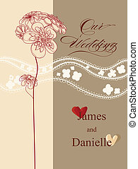 Stylish wedding invitation card, vector file