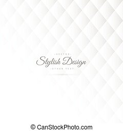 stylish white pattern design
