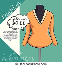 stylish woman fashion clothes