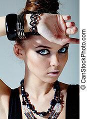 Stylish woman - Gorgeous woman with stylish accessories ...