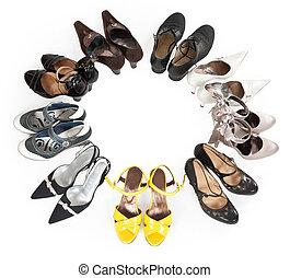 stylish women's shoes are round
