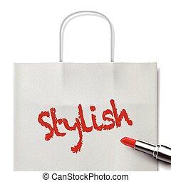stylish word written by red lipstick