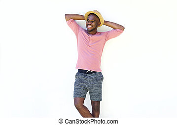 Stylish young african man standing relaxed