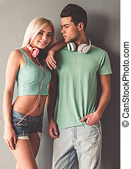 Stylish young couple