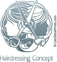 Stylist Hair Salon Hairdresser Concept - Hair salon stylist...