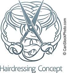 Stylist Hair Salon Hairdresser Icon