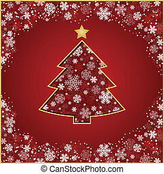 stylized, árvore, natal