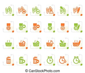 Stylized 24 Business, office and website icons