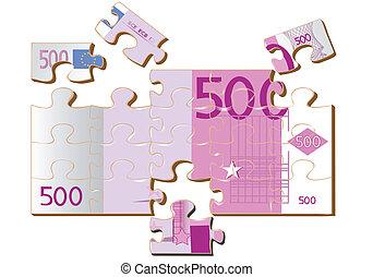 stylized 500 euro