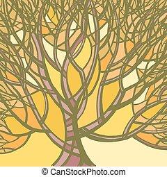 Stylized abstract autumn tree.