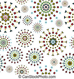 stylized, abstract, bloemen, witte achtergrond