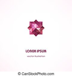 Stylized abstract business card