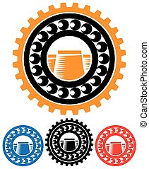 stylized abstract vector illustration on the theme of heavy industry and industrialization