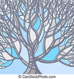 Stylized abstract winter tree.