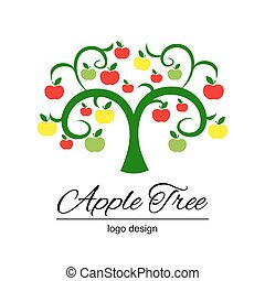 Stylized apple tree