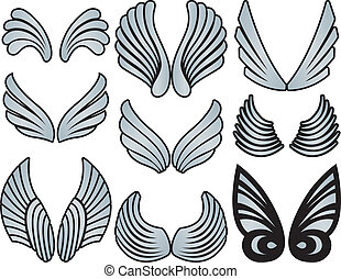 stylized, asas, anjo