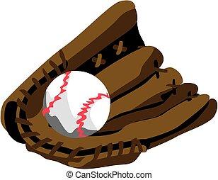 Stylized Baseball Glove EPS