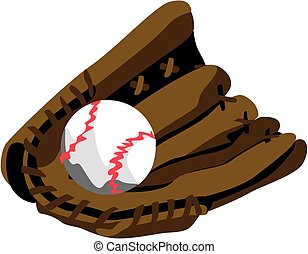 Stylized Baseball Glove EPS