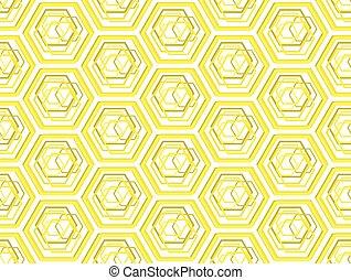 Stylized bee honeycombsgeometric seamless pattern