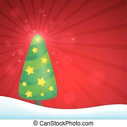 stylized, beeld, boompje, topic, 5, kerstmis