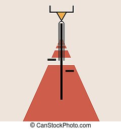 Stylized bicycle de stijl art