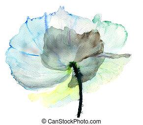 stylized, bloem, illustratie