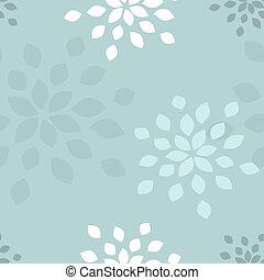 stylized, bloem, pattern., seamless