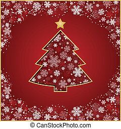 stylized, boompje, kerstmis