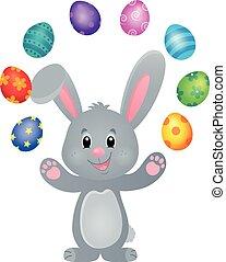 stylized, bunny easter, tema