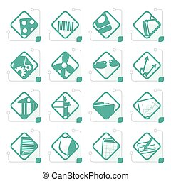 Stylized Business and Office Icons